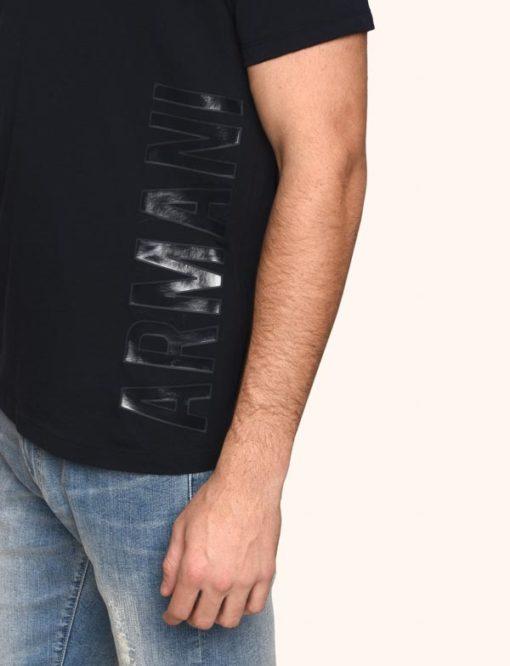 A|X t-shirt uomo scollo a v con logo laterale Armani Exchange -5
