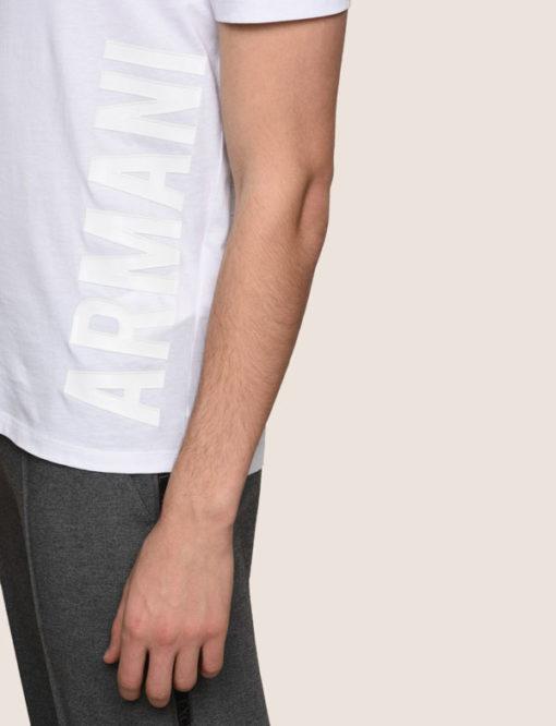A|X t-shirt uomo scollo a v con logo laterale Armani Exchange -4