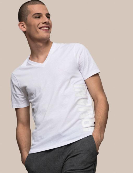 A|X t-shirt uomo scollo a v con logo laterale Armani Exchange -2