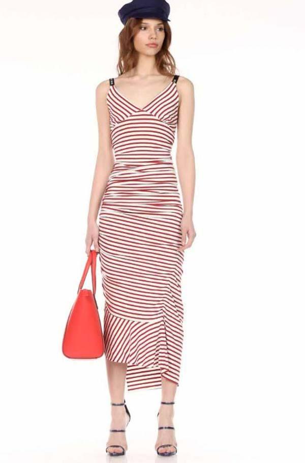 Denny Rose vestito elasticizzato da donna rigato -1 a0fb8cb2792
