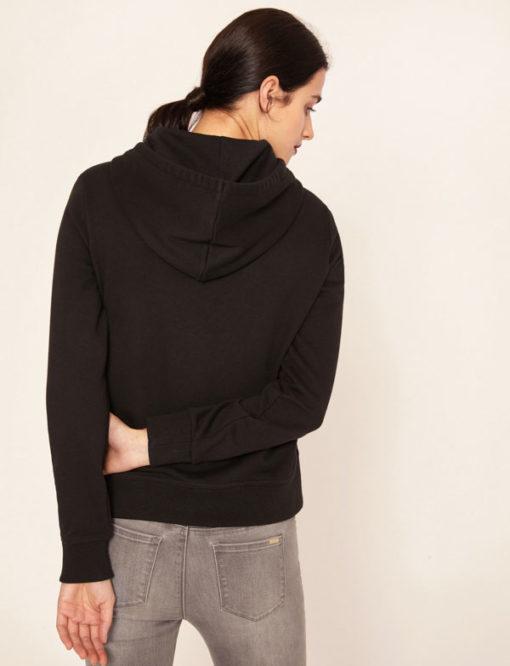 Armani Exchange feloa nera da donna con cappuccio e smile -2
