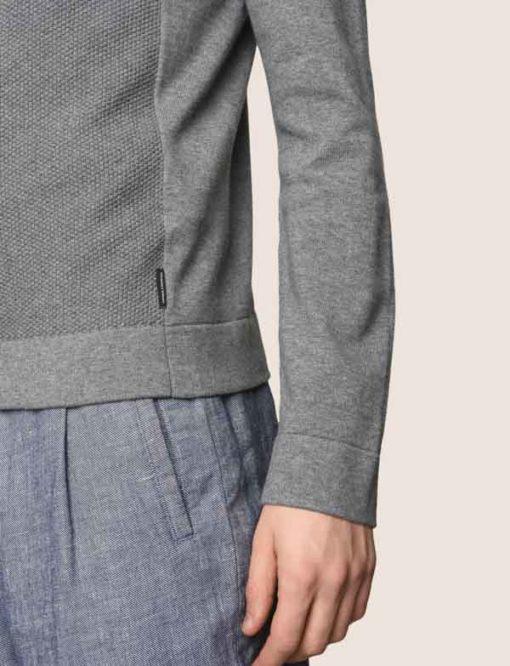 ARMANI EXCHANGE magia zip da uomo con cappuccio e tessuto lavorato -3