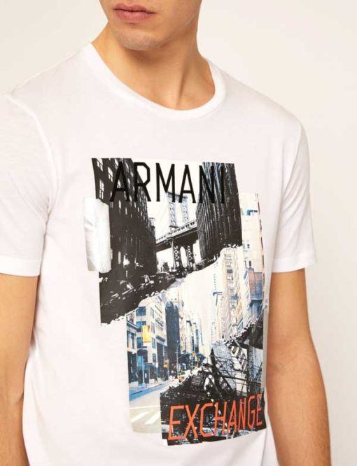 Armani Exchange t-shirt uomo bianca stampa New York-1