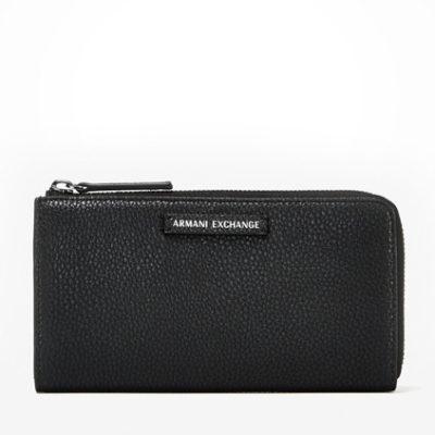 Armani Exchange portafoglio da donna nero