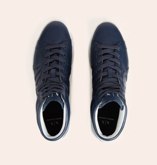 Armani Exchange sneakers uomo alte blu-3