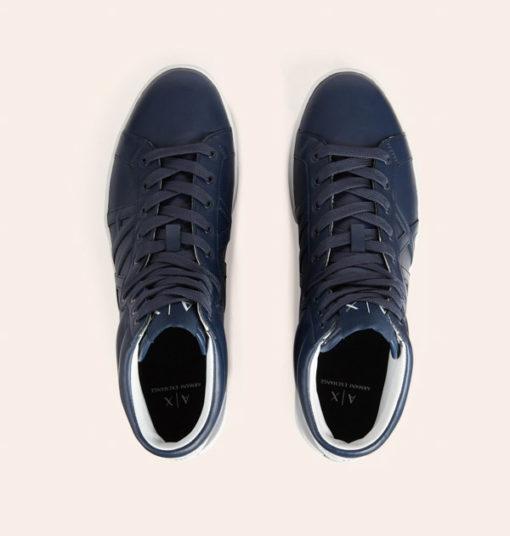 Armani Exchange sneakers uomo alte blu-3