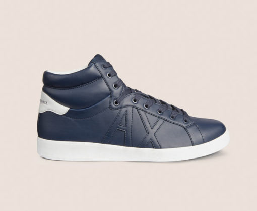 Armani Exchange sneakers uomo alte blu-1