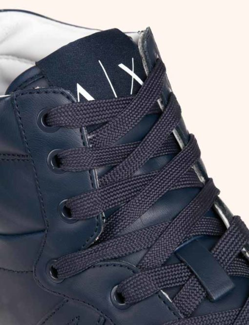 Armani Exchange sneakers uomo alte blu-2