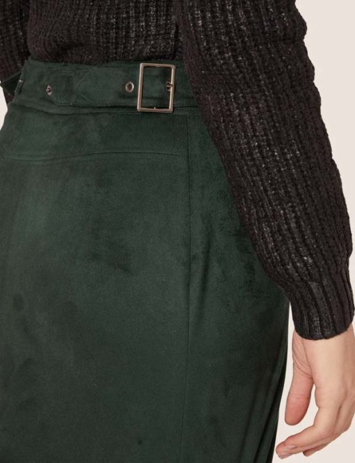 Armani Exchange Gonna verde da donna -3