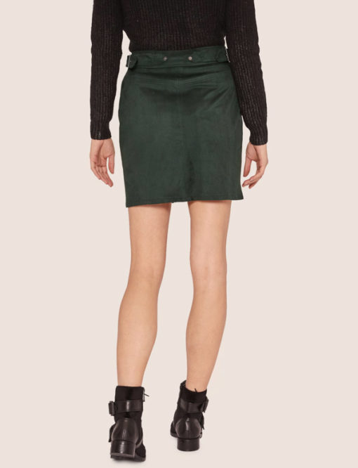 Armani Exchange Gonna verde da donna -4