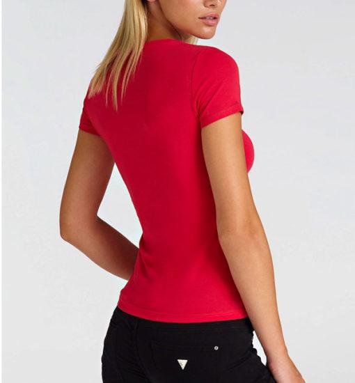 GUESS maglietta fucsia mezza manica con logo da donna -3