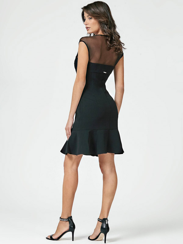 new product a9f11 db6e7 ABITO NERO GUESS DONNA CON TULLE