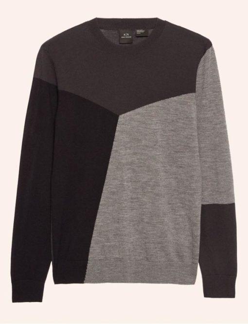 Armani Exchange maglia uomo nera e grigia-3