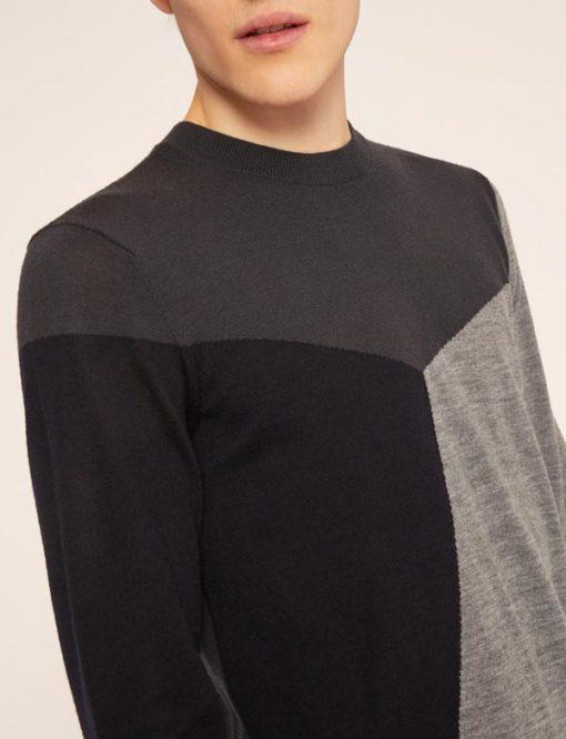 Armani Exchange maglia uomo nera e grigia-2
