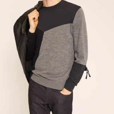 Armani Exchange maglia uomo nera e grigia