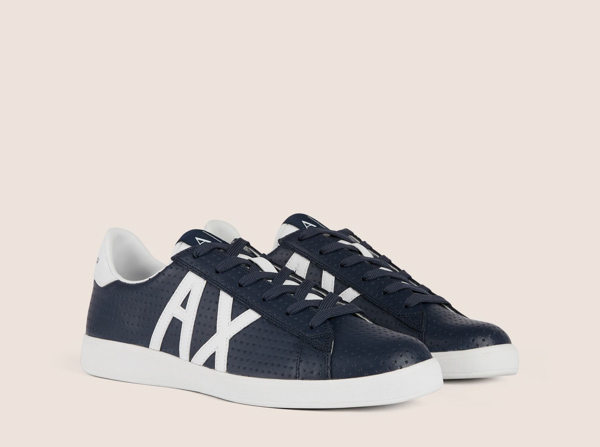 ARMANI EXCHANGE scarpa in pelle lavorata blu Armani Exchange-1 3cd1f7496d4