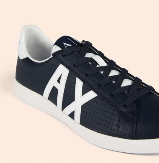 ARMANI EXCHANGE scarpa in pelle lavorata blu Armani Exchange-3