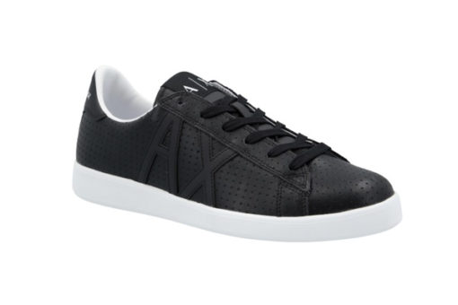ARMANI EXCHANGE scarpa in pelle lavorata nera Armani Exchange