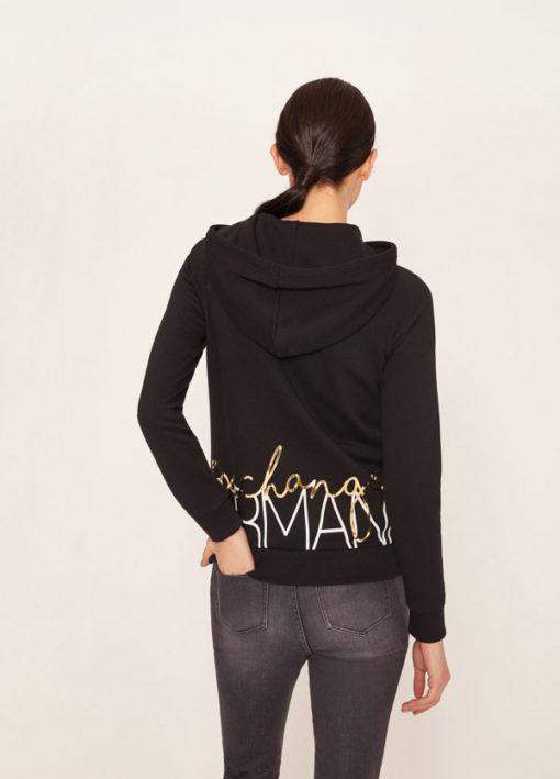 ARMANI EXCHANGE felpa da donna con zip e cappuccio