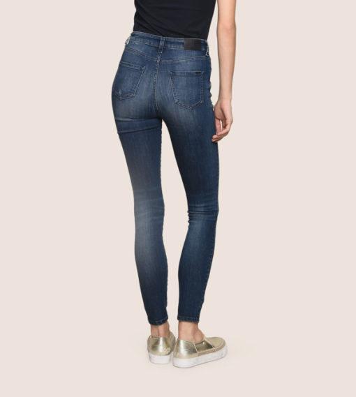 Armani Exchange jeans scuro vita alta da donna -4