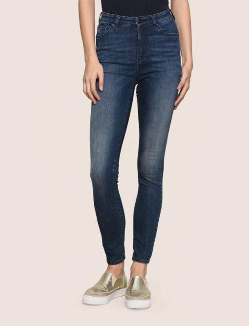 Armani Exchange jeans scuro vita alta da donna