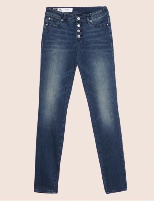 ARMANI EXCHANGE jeans da donna con bottoni vita alta-4