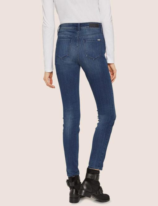ARMANI EXCHANGE jeans da donna con bottoni vita alta-3