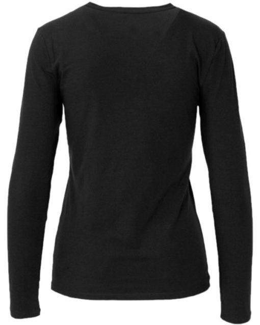 Armani Exchange t-shirt manica lunga nera con logo in paillettes -3