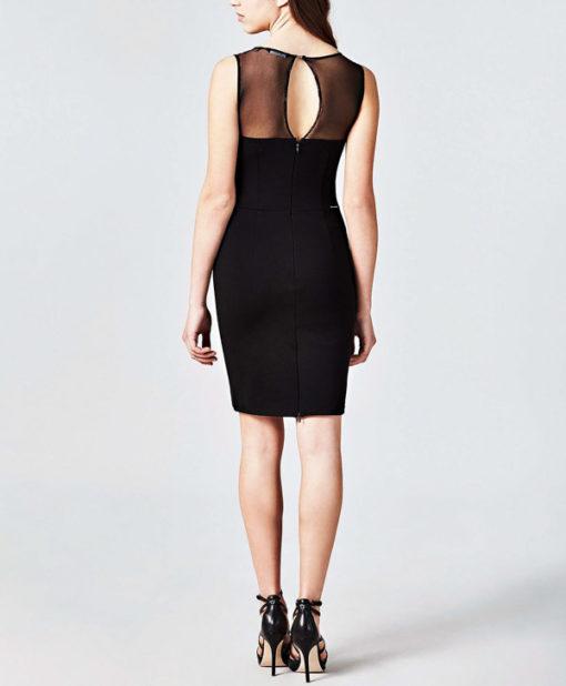 GUESS vestito da donna nero con lacci-2
