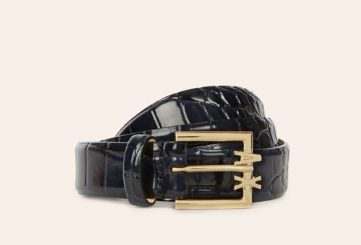 ARMANI EXCHANGE cintura da donna in vernice nera