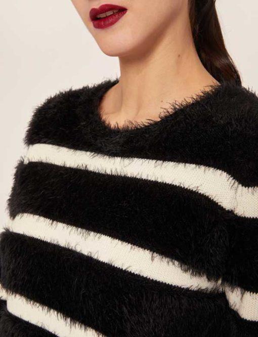 ARMANI EXCHANGE maglione rigato da donna -1