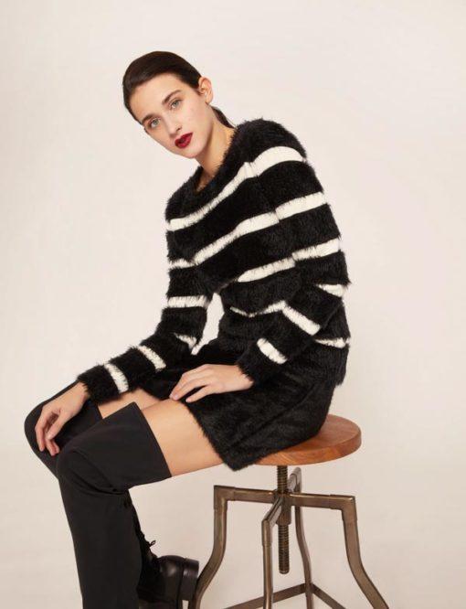 ARMANI EXCHANGE maglione rigato da donna
