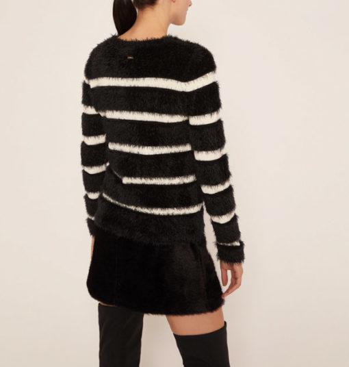 ARMANI EXCHANGE maglione rigato da donna -4