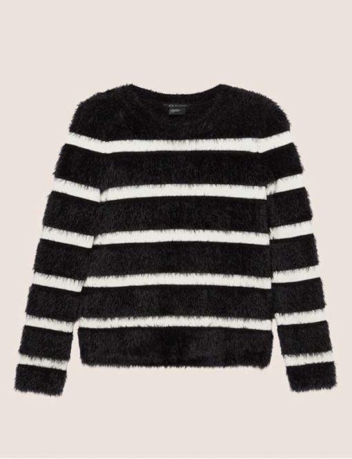 ARMANI EXCHANGE maglione rigato da donna -3