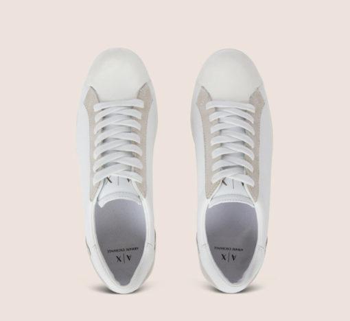 ARMANI Exchange scarpa allacciata tinta unita-3