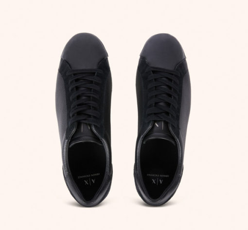 ARMANI Exchange scarpa allacciata tinta unita-2