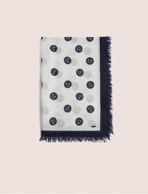 Armani Exchange sciarpa da donna con stampa smile-6
