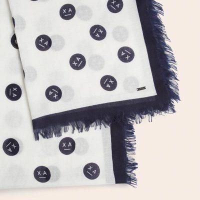Armani Exchange sciarpa da donna con stampa smile