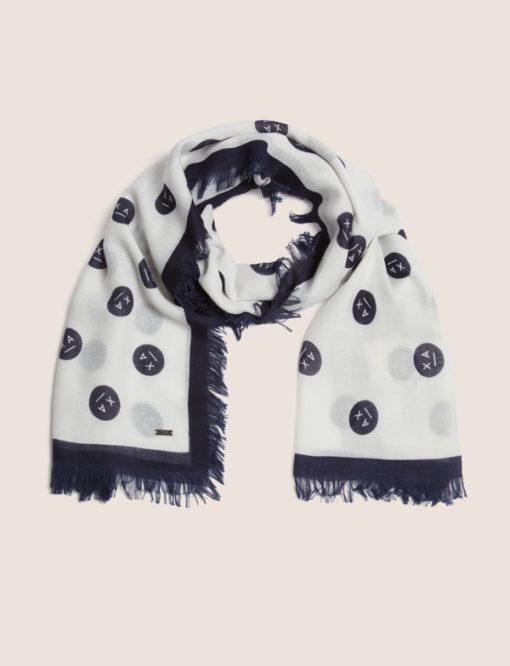 Armani Exchange sciarpa da donna con stampa smile-4