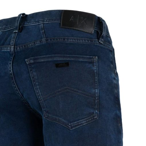 ARMANI EXCHANGE jeans blu scuro stretch gamba stretta -3