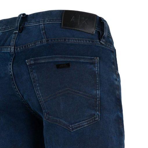 ARMANI EXCHANGE jeans blu scuro stretch gamba stretta -3