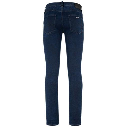 ARMANI EXCHANGE jeans blu scuro stretch gamba stretta -1