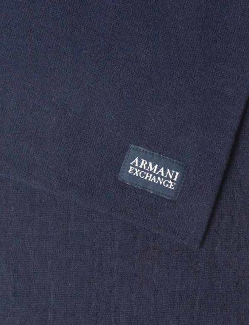 ARMANI EXCHANGE sciarpa tinta unita blu da uomo-1
