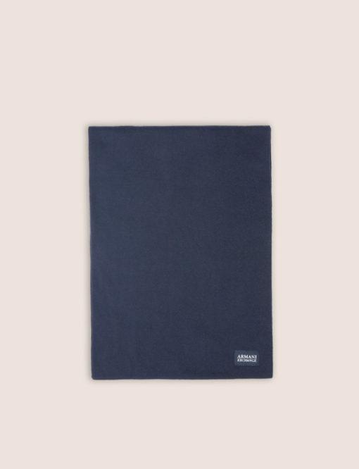 ARMANI EXCHANGE sciarpa tinta unita blu da uomo-2