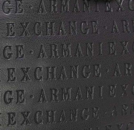 Borsa tracolla Armani Exchange logata con zip-6