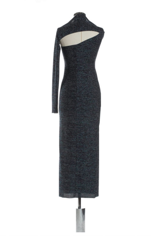 Denny Rose abito lurex multicolor lungo -3