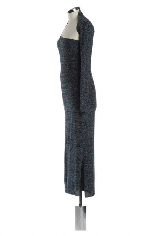 Denny Rose abito lurex multicolor lungo -2