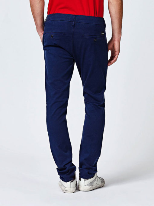 Pantalone chino Guess blu da uomo-3