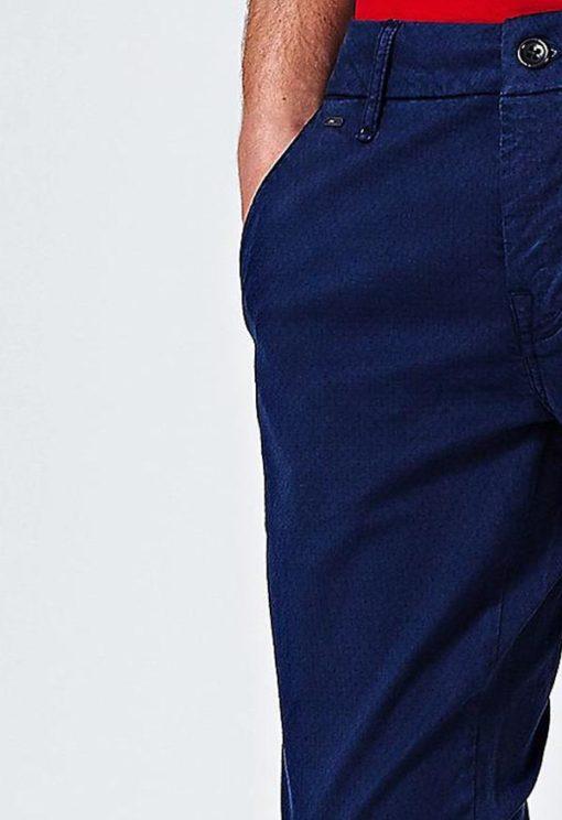 Pantalone chino Guess blu da uomo-2