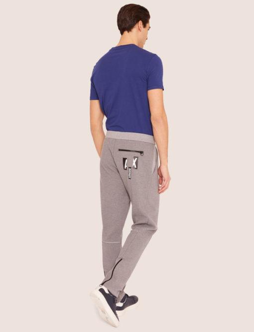 Armani Exchange pantalone tuta grigio chiaro da uomo